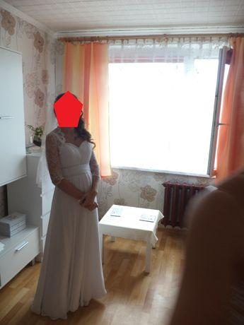 Suknia ślubna Fasson.(Może być również jako suknia ślubna ciążowa)