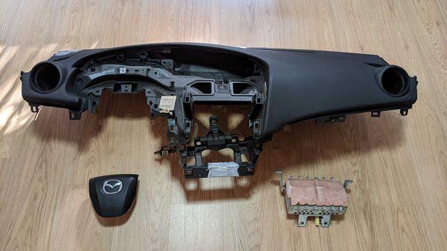 Conjunto Kit Airbags Mazda 3 Tablier Original Completo