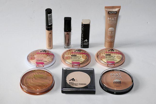Kosmetyki makijaż wizaż Manhattan korektor cień puder podkład