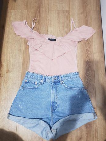 Body bluzka różowa hiszpanka s