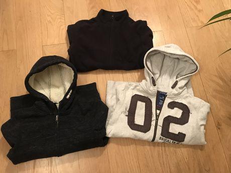 Bluzy 3 szt, H&M, Tom Tailor rozm 146