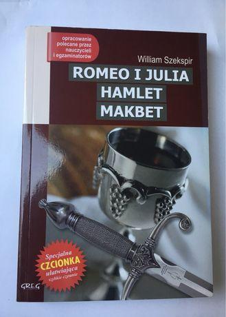 KSIĄŻKA Romeo i Julia, Hamlet, Makbet W. Szekspir