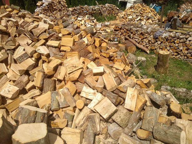 Drewno kominkowe opałowe dąb sosna brzoza