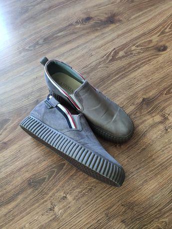 Buty zamszowe szare 41