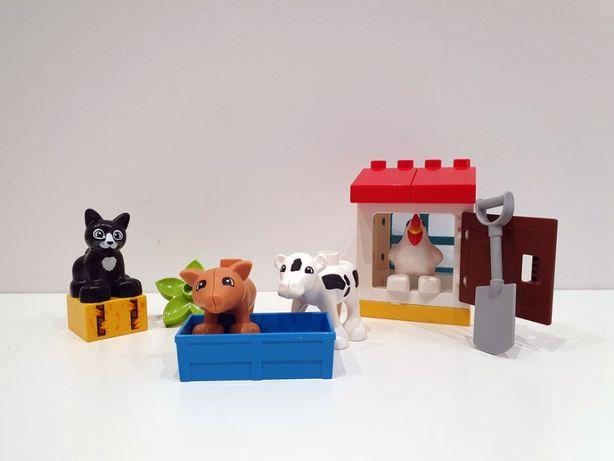 Lego DUPLO 10870 zwierzątka hodowlane, kura, krowa, świnka, kot
