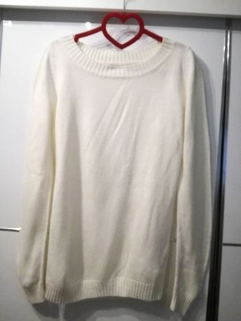 Sweter biały M