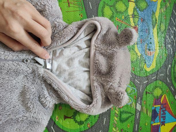 Человечек комбинезон меховой демисезонный тёплый 6 9 мес 74 см f&f