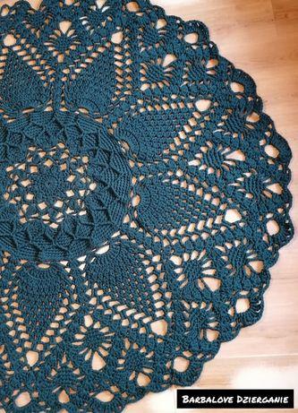 Naturalny dywan wykonany ręcznie ze sznurka bawełnianego
