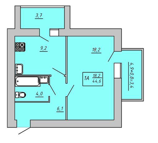 Продам однокомнатную квартиру Новый дом ЖК Киевский