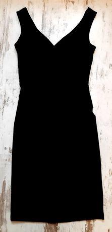 Czarna sukienka z marszczeniem rozm. S
