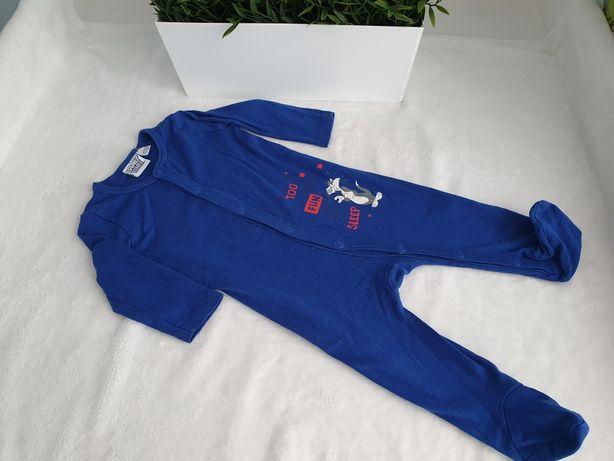 Granatowy Pajac/ piżamka, roz. 62