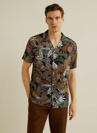 Гавайская рубашка MANGO , p L, XL
