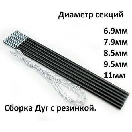 Секции-дуги для палатки,намета диаметр 6.9-7.9-8.5-9.5-11мм.