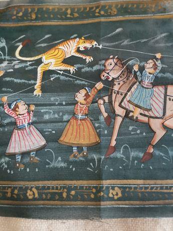 Pintura à mão em tecido - Origem Índia