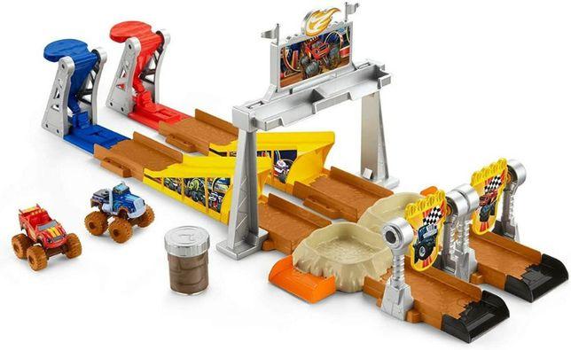 Fisher-Price blaze monster machines Вспыш Крушила и чудо машинки со сл