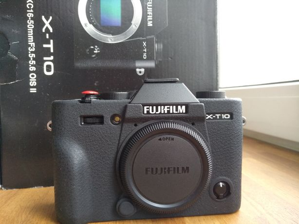Fujifilm X-T10 body black + skin, в коробке