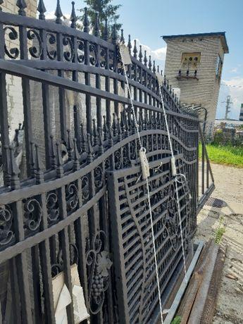 OKAZJA Ogrodzenie brama furtka przęsła kute RAL 9011 metaliczny mat