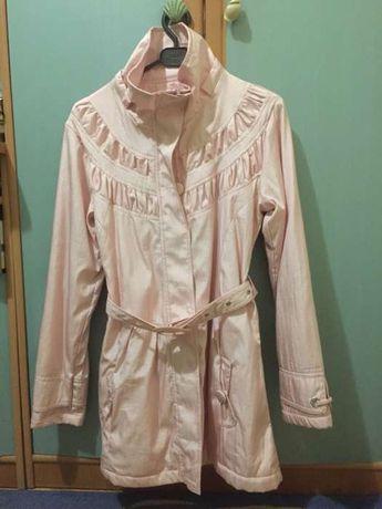 Розовый плащ-зефирка на девочку 10-13 лет