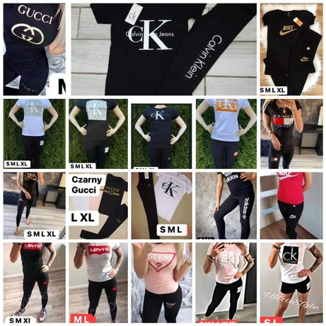 Komlety damskie koszulka+legginsy różne modele i rozmiary