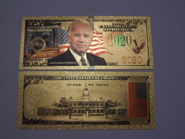 Joe Biden banknot pozłacany fantazyjny