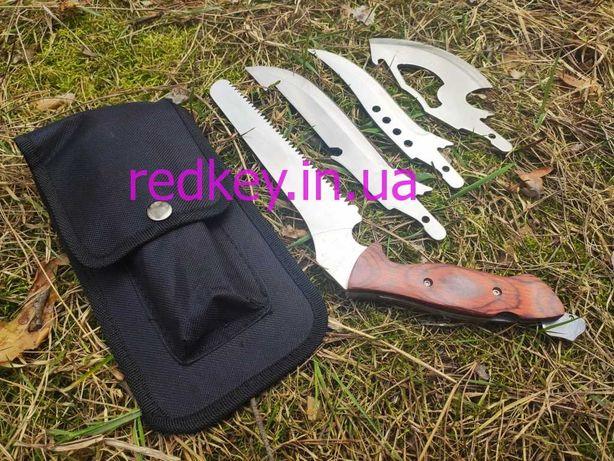Туристический набор 4 в 1, 4 лезвия охотничий нож, кинжал, пила, топор