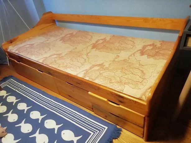 Ліжко спальне одномісне з шухлядами