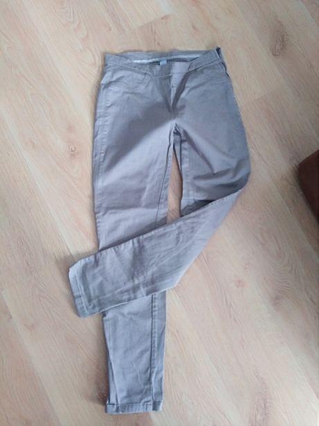 wallis denim, skinny spodnie beż r 38, dopasowane