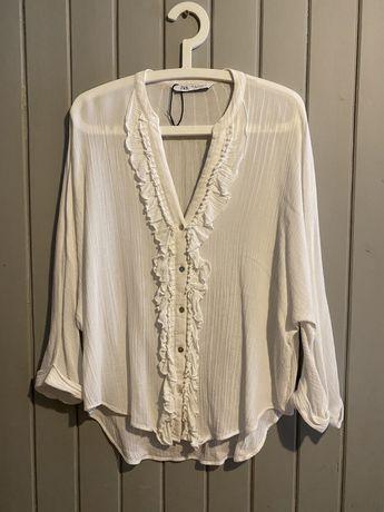 Zara- biala koszula