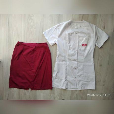 R. S Żakiet + spódnica komplet medyczny