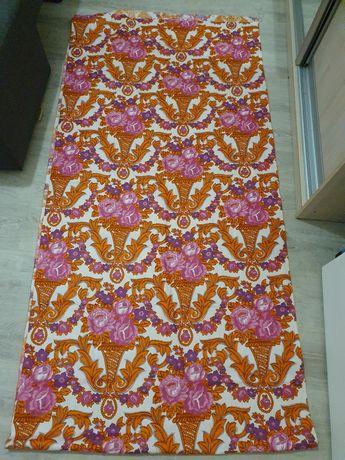 Штора с нат. тканей с цветами