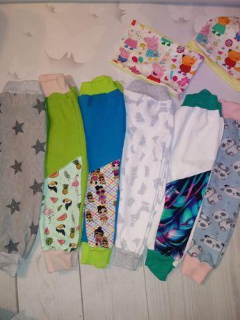Okazja nowy 6pak spodni dresowych+komplet dziewczynka rozm 98/104