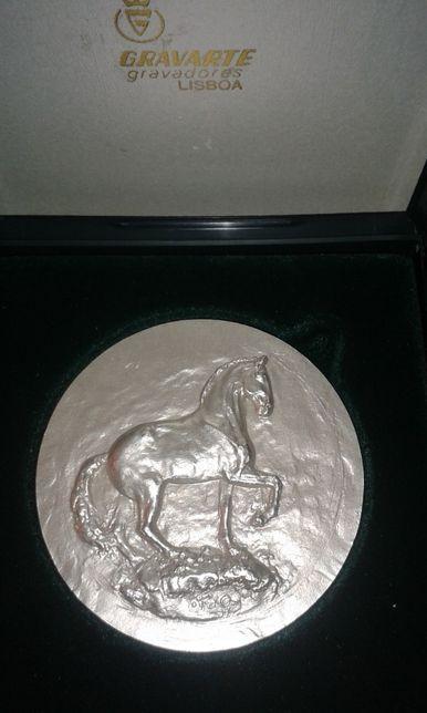 Medalha 2 lugar - Prata Cavalo Lusitano