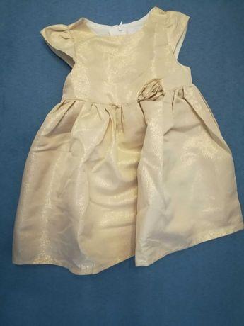 Sukienka r. 86 złota