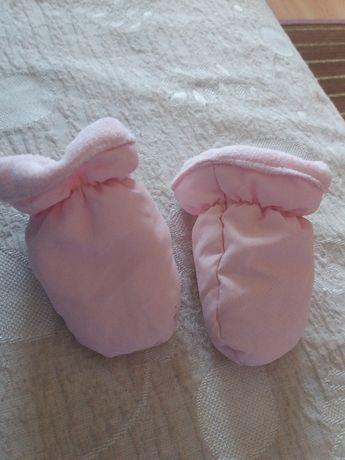 Luvas bebé cor de rosa