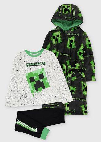 Szlafrok i piżama Minecraft 134cm 8-9 lat