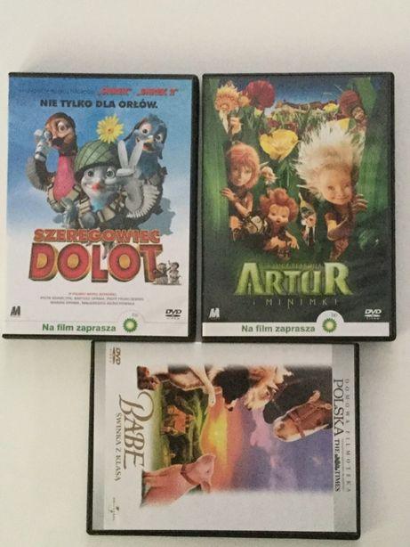 DVD Filmy animowane/ bajki dla dzieci 3 płyty