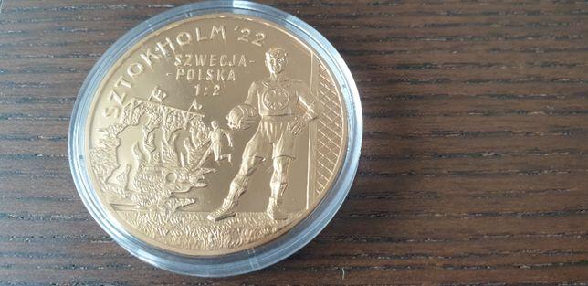 Starocie z Gdyni - Medal złoty Sztokholm 22 Szwecja - Polska 1 : 2