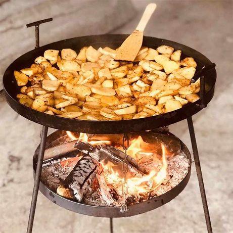 Сковорода з диска для пікніку 40 см і 50 см для вогню. Мангал, жаровня