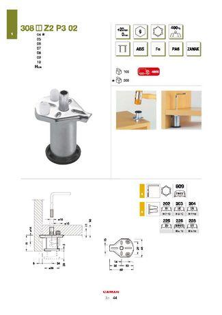 Опора для шкафа h=60 мм CAMAR 308.06.Z2.P3.02