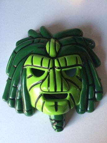 Máscara de Carnaval / Halloween Verde (Gormiti)