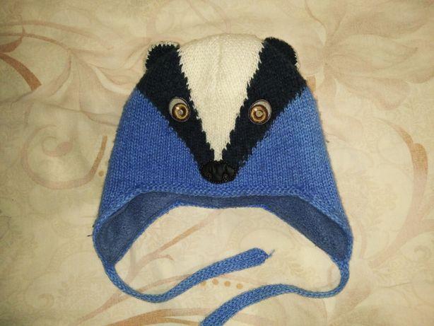 Комплект зимний для мальчика шапка и шарф