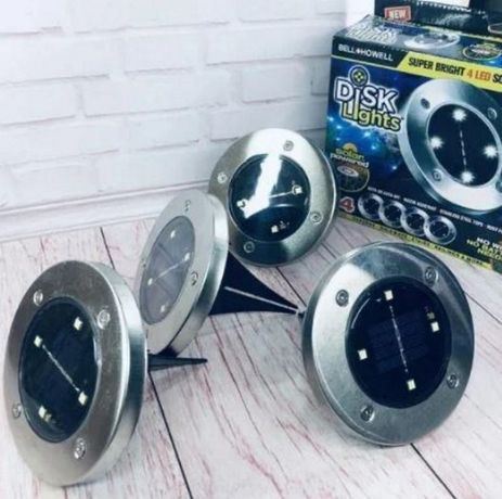 Светодиодный светильник уличный комплект 4 шт солнечная батарея