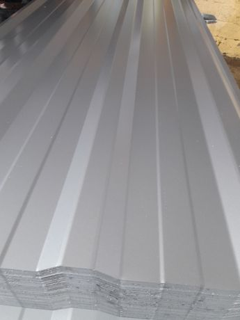 Blacha trapezowa T-18E Srebrna Połysk RAL 9006 0,45mm 23,50/m2 brutto