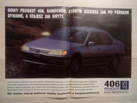Plakat Poster Peugeot 406 33cm x 46cm Samochody Auto Cars Reklama PL