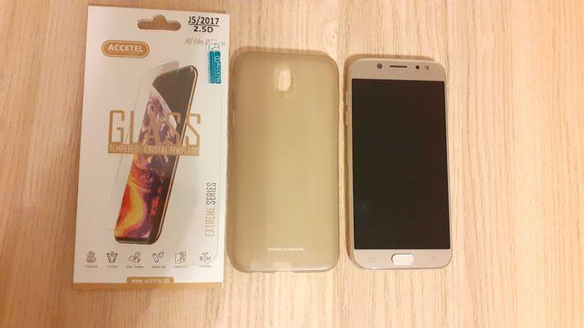 Capa e Vidro Temperado Samsung J5  2017