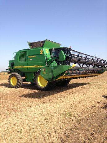Услуги уборка урожая збирання врожаю соя John Deere STS гидрофлекс