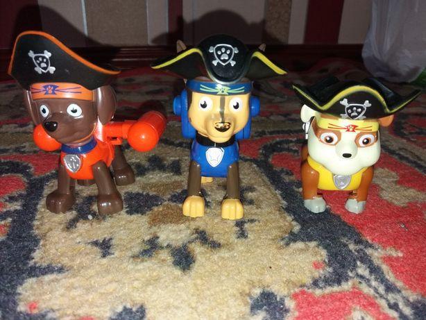 Щенячий патруль набор 3 щенка пирата