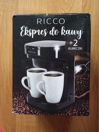 Ekspres do kawy Ricco + 2 kubeczki NOWY