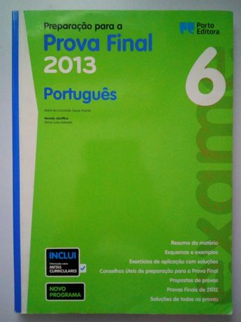 Livro de preparação para a prova final de português 6º ano