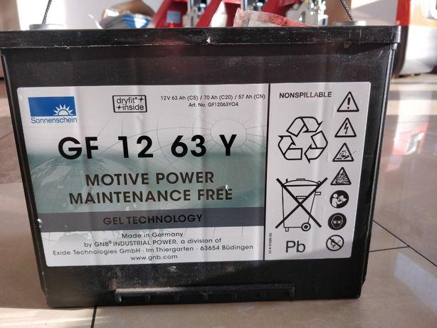 Akumulator żelowy 2018r 70 Ah 12V GF 12 63 Y